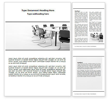 Business: Meeting Hall Word Template #07554