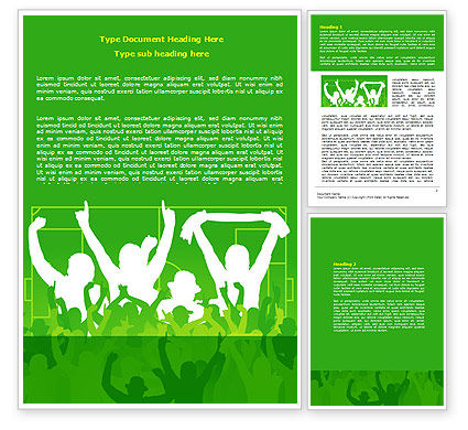 Soccer Fan Word Template, 07555, Sports — PoweredTemplate.com