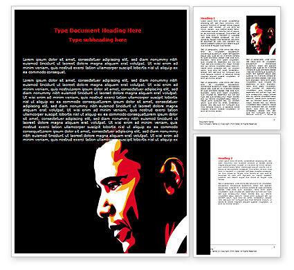 Barack Obama Word Template