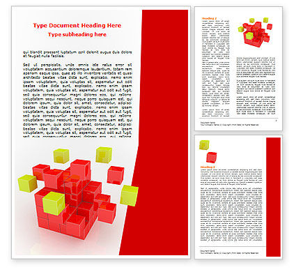 Cube Puzzle Word Template, 07565, Business Concepts — PoweredTemplate.com