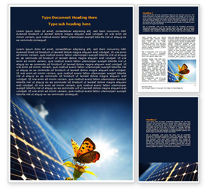 Technology, Science & Computers: Solar Power Word Template #07566