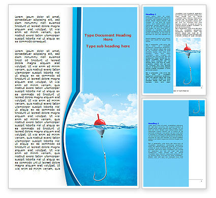 Fishhook Word Template, 07568, Business — PoweredTemplate.com