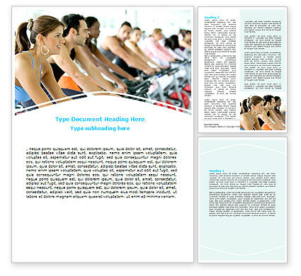 Exercising Word Template, 07571, Sports — PoweredTemplate.com