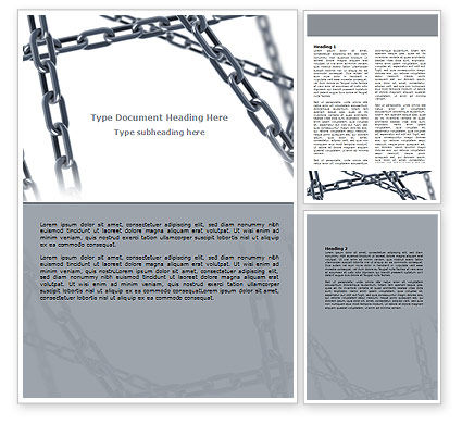 Steel Chains Crossing Word Template, 07576, Consulting — PoweredTemplate.com