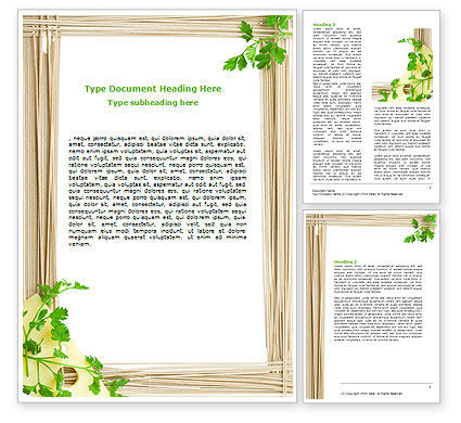 Noodle Frame Word Template, 07579, Food & Beverage — PoweredTemplate.com