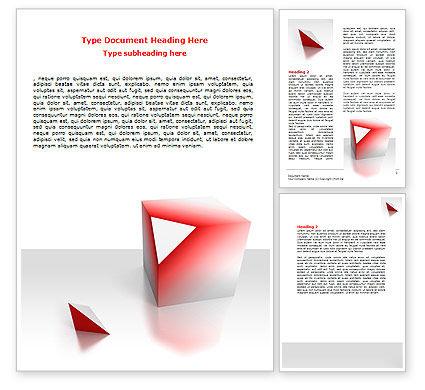 Cube Segment Word Template, 07582, Consulting — PoweredTemplate.com
