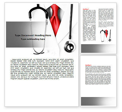 Rigorous Doctor Word Template, 07594, Medical — PoweredTemplate.com