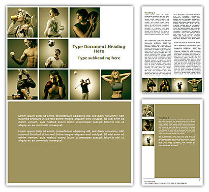 Sport Activities Word Template, 07597, People — PoweredTemplate.com