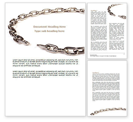 Torn Chain Word Template, 07599, Consulting — PoweredTemplate.com