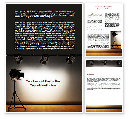 Photo Studio Word Template, 07606, Careers/Industry — PoweredTemplate.com