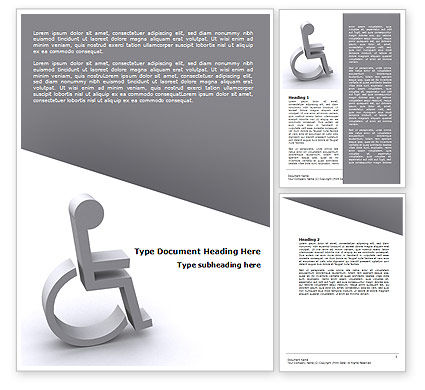 Medical: Disability Word Template #07614