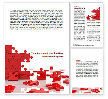 Pieces Falling Apart Word Template, 07624, Consulting — PoweredTemplate.com