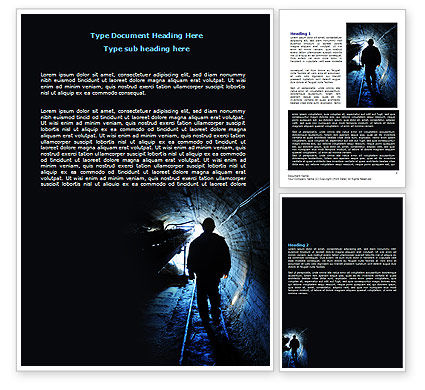 Sewerage System Word Template, 07629, Careers/Industry — PoweredTemplate.com