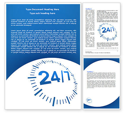 Consulting: 24-7-365 Word Template #07630