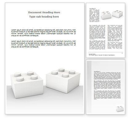 Lego Blocks Word Template, 07632, Consulting — PoweredTemplate.com