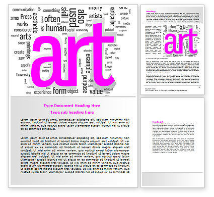 Font Collage Word Template