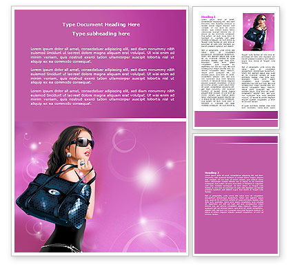 Fascination Girl Word Template, 07640, Careers/Industry — PoweredTemplate.com