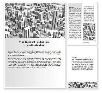 Consulting: Jigsaw City Word Template #07642