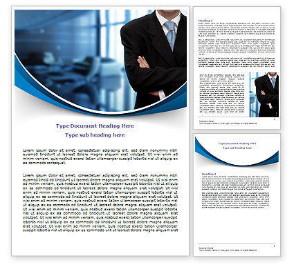 Business Style Word Template, 07645, Business — PoweredTemplate.com