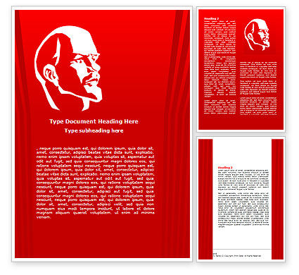 Flags/International: Lenin Word Template #07646