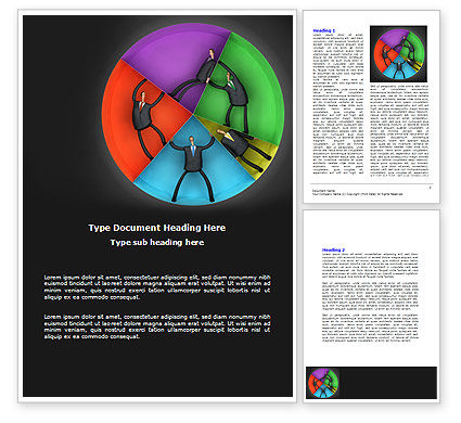 Concept Pie Chart Word Template, 07648, Consulting — PoweredTemplate.com