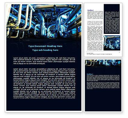 Utilities/Industrial: 産業用パイプライン - Wordテンプレート #07655