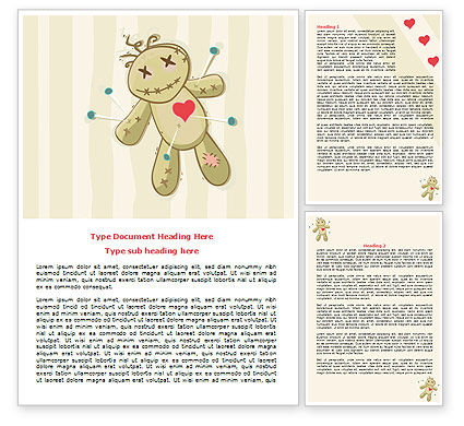 Business Concepts: Voodoo Love Doll Word Template #07659