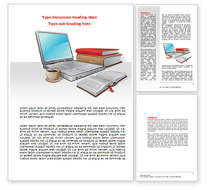 E-Learning Word Template, 07661, Business — PoweredTemplate.com