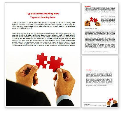 Adding Pieces Word Template, 07664, Consulting — PoweredTemplate.com