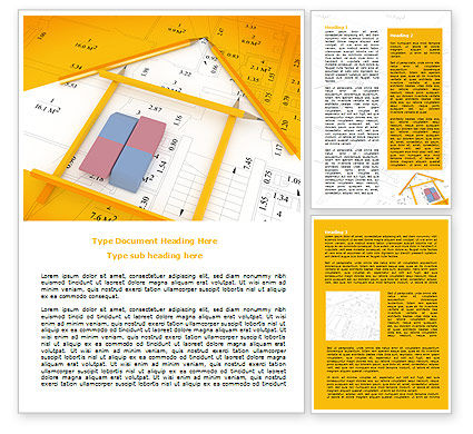 Architecture Draft Word Template, 07671, Careers/Industry — PoweredTemplate.com