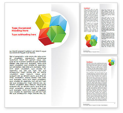Color Blocks Word Template, 07673, Education & Training — PoweredTemplate.com