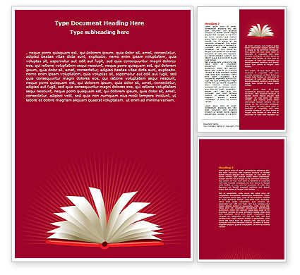 Education & Training: Templat Word Buka Buku Di Meja #07675