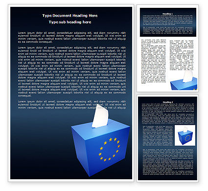 European Union Elections Word Template, 07679, Legal — PoweredTemplate.com