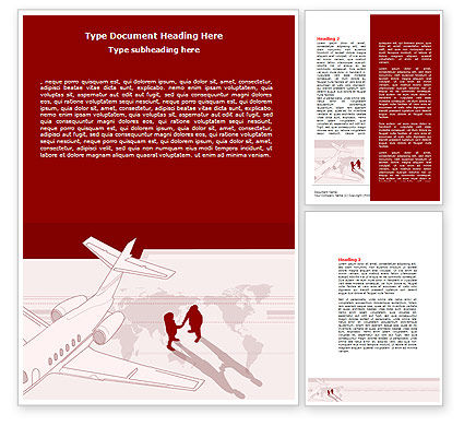 Business Class Air Travel Word Template, 07680, Business — PoweredTemplate.com