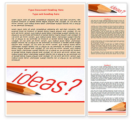 Consulting: Any Ideas Word Template #07688