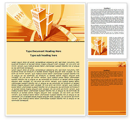 City Block Planning Word Template, 07689, Business — PoweredTemplate.com