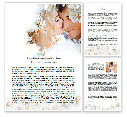 Holiday/Special Occasion: Spring Love Word Template #07690