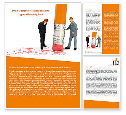 Error Correction Word Template, 07691, Business — PoweredTemplate.com