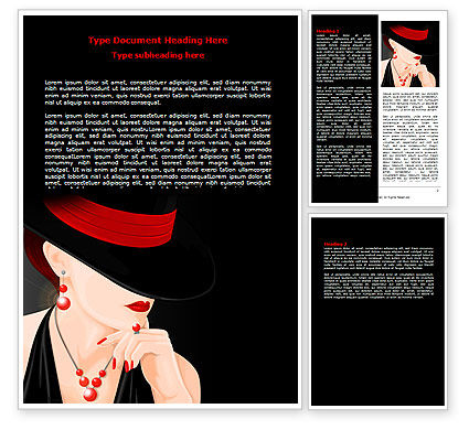 Fashionable Lady Word Template, 07693, Careers/Industry — PoweredTemplate.com