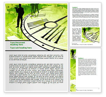 Free Timeline Global Word Template, 07694, Business — PoweredTemplate.com