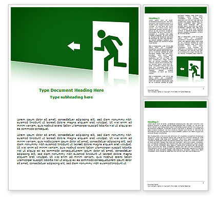 Fire Exit Word Template, 07695, Consulting — PoweredTemplate.com