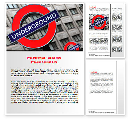 Flags/International: London Subway Word Template #07696