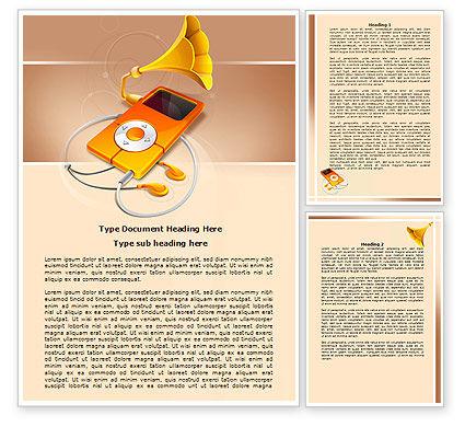 Technology, Science & Computers: 워드 템플릿 - 음악 멀티미디어 플레이어 #07702