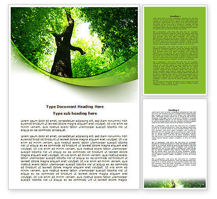 High Tree Word Template, 07704, Nature & Environment — PoweredTemplate.com