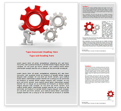 Gear Man Word Template, 07705, Utilities/Industrial — PoweredTemplate.com