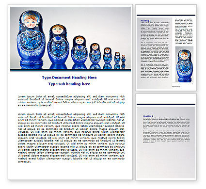 Matryoshka Word Template, 07708, Flags/International — PoweredTemplate.com