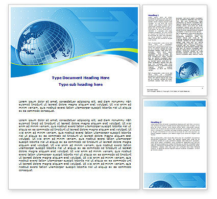 Global Telecommunication Word Template, 07709, Global — PoweredTemplate.com