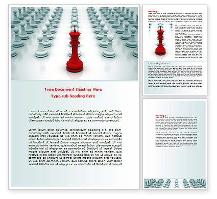 Chess King Ready To Fight Word Template, 07712, Education & Training — PoweredTemplate.com