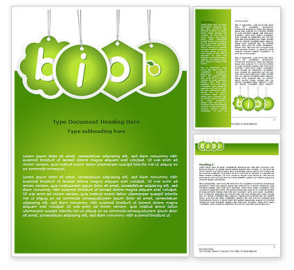 Nature & Environment: Bio Badges Word Template #07716