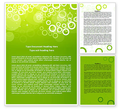 Abstract/Textures: Green Bubbles Theme Word Template #07717